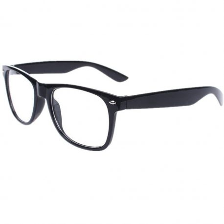 Geek Glasses with lenses, Nerd Glasses, Black geek glasses,