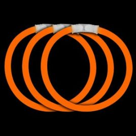 "8"" Orange Glow Bracelets, Orange Glow Necklaces"