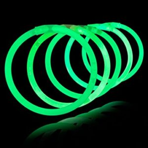 100 x Green Glow Bracelets