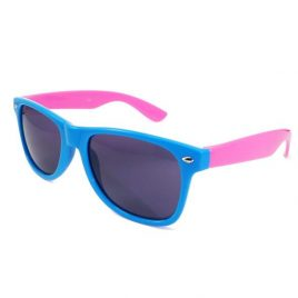 Sunglasses Blue and Pink | Wayfarer Style Coloured Glasses, Two Tone Sun Glasses. Blue frames with Pink arms.Wayfarer Sun Glasses, Blue and Pink Sun Glasses, Coloured SunGlasses, Wayfairer, wayfarer glasses, coloured wayfarer.