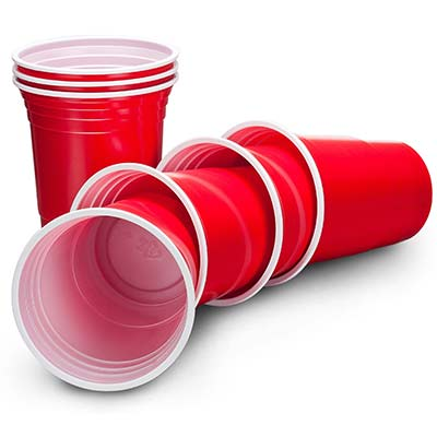 frat cups, american large red party cups