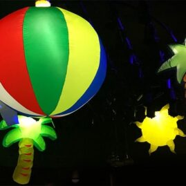 beach party, beach theme, summer party, themed event hire, themed event, large beach inflatables, hanging beach balls, hanging large shark, beach themed event, event hire, events hire, summer event hire.