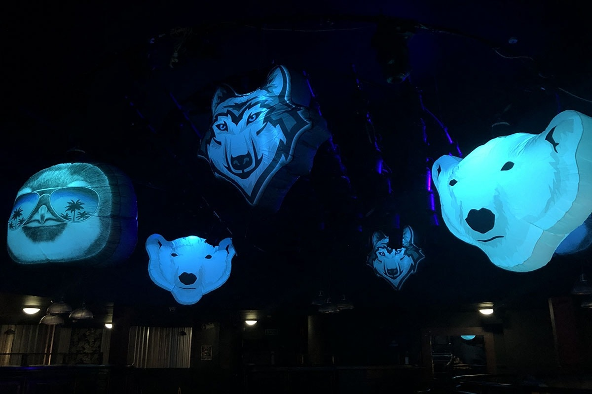 themed event hire, party in a box, themed party box, themed event hire, themed events, Arctic Zoo Party, Arctic Theme, Arctic themed Event, Arctic Party, Arctic party Gloucestershire, cheltenham, uk, inflatable decor, hanging decor, event hire.