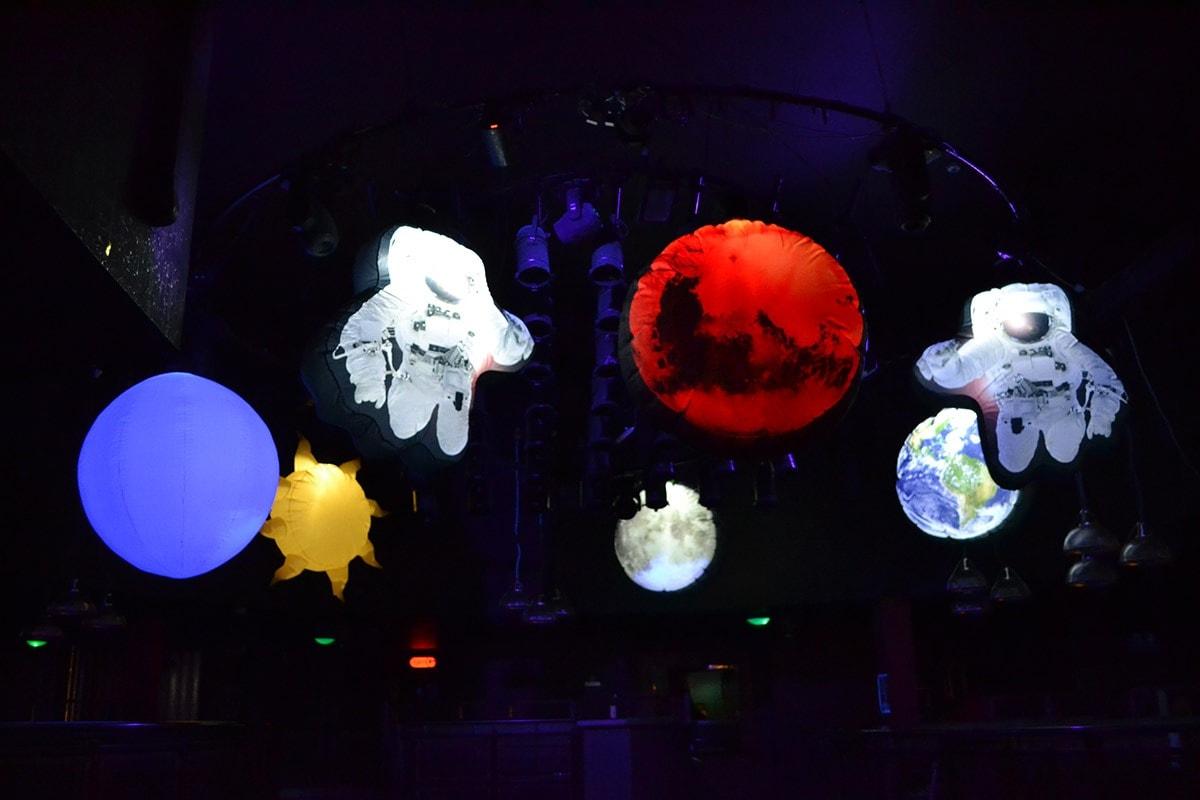 lost in space, space theme, lost in space, space event, space theme, space party, outer space theme, nightclub themed event, theme, hire cheltenham, equipment hire Gloucestershire, decor hire, giant inflatable sun, giant inflatable planet, giant inflatable astronaut, giant inflatable moon, giant inflatable mars.