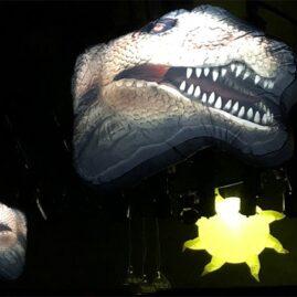 prehistoric, Jurassic, prehistoric party, Jurassic party, dinosaur party, giant inflatable dinosaur, giant dinosaur, hanging dinosaur.
