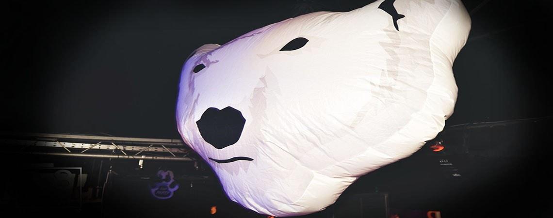 giant polar bear inflatable hire, inflatable polar bear,
