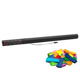 80cm electric confetti cannons, multi coloured confetti, confetti hire, confetti hire cheltenham, confetti gloucestershire.