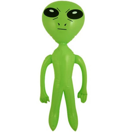 inflatable alien, blow up alien, space inflatable, alien inflatable