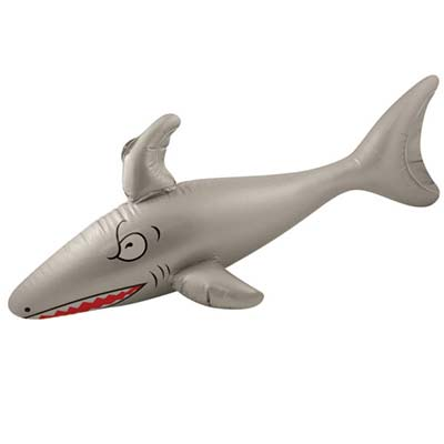 blow up inflatable shark toy.