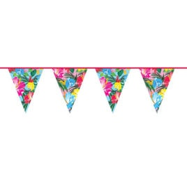 10m flower power bunting garland