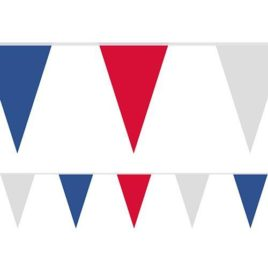 red white blue bunting, tricolour bunting