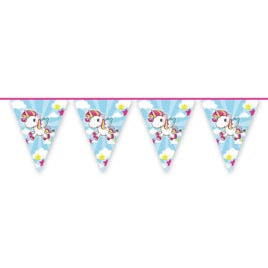 10m unicorn bunting garland