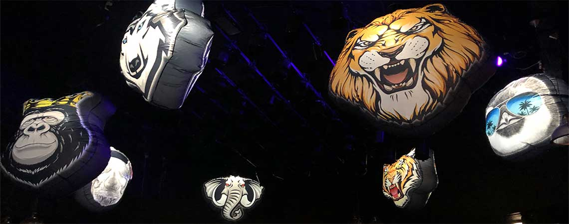 animal inflatable decor, safari zoo animal decorations, giant animal inflatables, large animal decorations