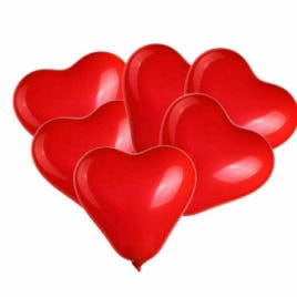 "heart balloons, High Quality 12"" Valentine and Love Balloons"