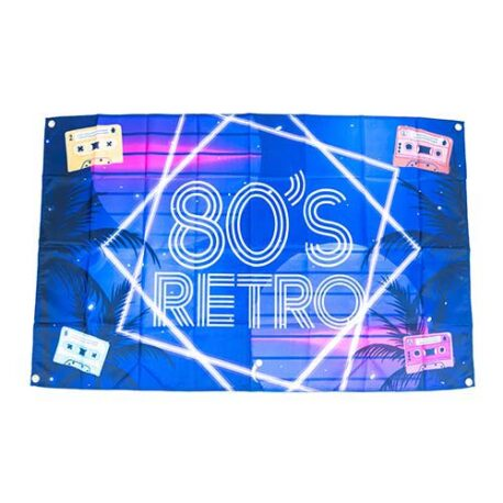 80s flag, 80s decoration, 1980s party flag decoration, 80s banner