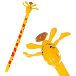 inflatable giraffe stick, Giraffe inflatable, blowup giraffe.