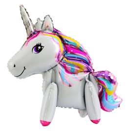 Unicorn Airwalker Balloon 24 Inch, Large Unicorn Balloon