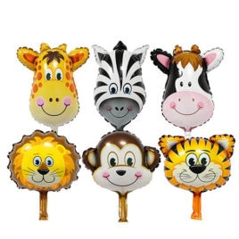 animal balloons, zoo safari animal foil balloons