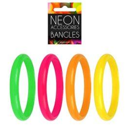 neon bangles, fluorescent bracelets
