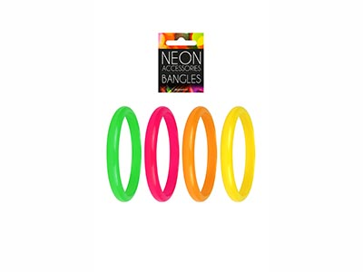 neon bangles, brightly coloured wristbands