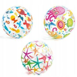 51cm Lively Print Intex Inflatable Beach Ball.