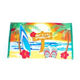 summer flag, beach summer Hawaiian tiki flag