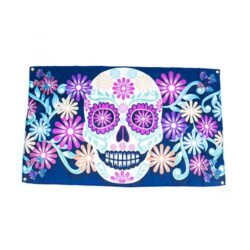 day of dead flags, day of the dead decorations, halloween day of the dead flags