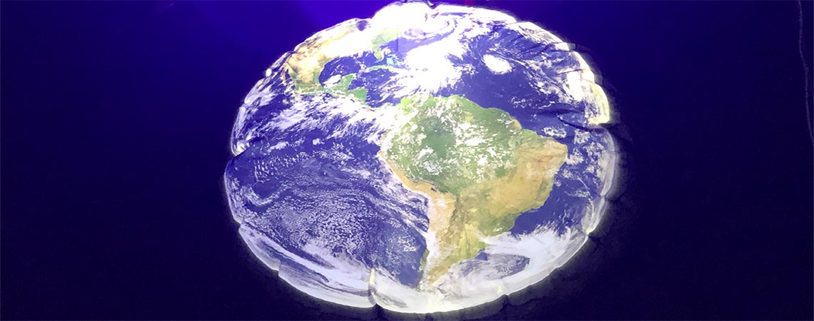 large earth themed inflatable, planet earth inflatable
