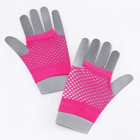 fishnet gloves pink, neon fishnet gloves