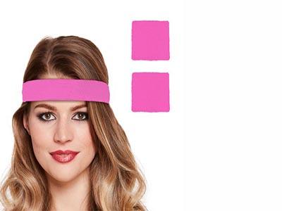 Neon Pink Wristband and Neon Headbands