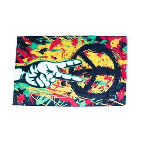 hippy theme flags, peace flags