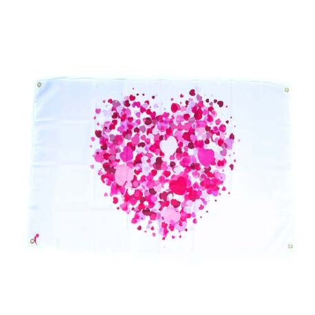 Love Valentine Flags, valentine party decorations