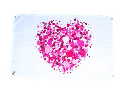 valentine flag decoration, love flag decorations