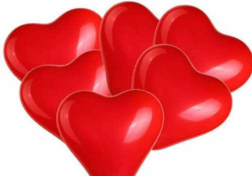 """12"""" red latex heart balloons"""