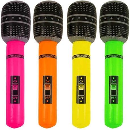 inflatable microphone, microphone inflatable, 1980s inflatables, 90s inflatables, blow up microphone