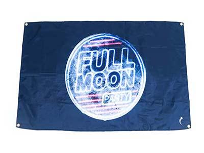 moon flags, full moon flag banner