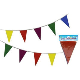 multi coloured bunting garland
