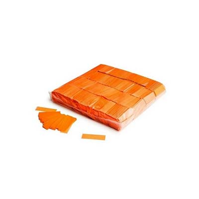 orange fluorescent confetti
