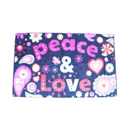 pace and love decorations, peace and love flags