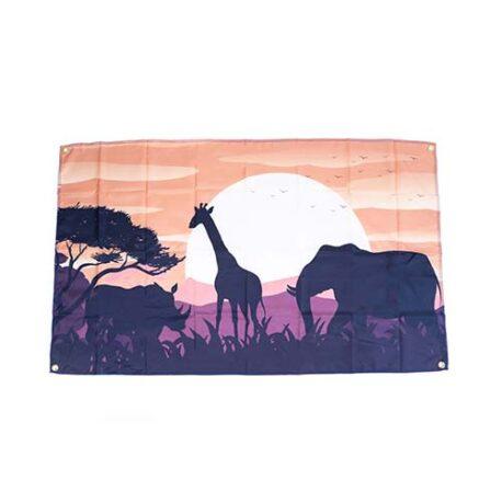 safari flag, Safari Animal Zoo themed Flag