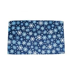 Snow Themed Flag, snow party decorations, Christmas flag