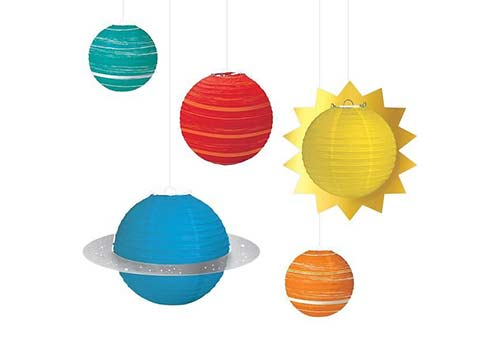 space lantern decorations