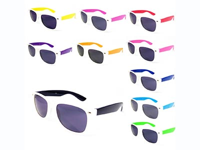 summer sunglasses with coloured arms