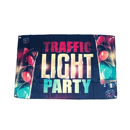 Traffic Light Party Flag, Traffic Light Banner, Traffic Light Party Decorations