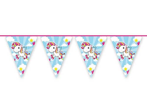 large unicorn bunting