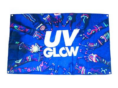 UV party flags, glow party decorations