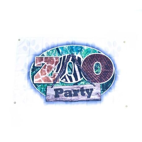 zoo flags, safari zoo animal themed flag, animal party decorations, zoo party flag