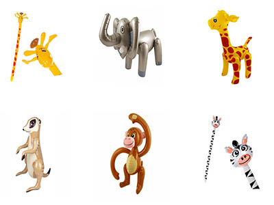 inflatable safari zoo animals