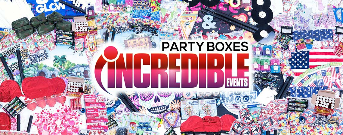 themed party box delivery, party supplies and decoartions
