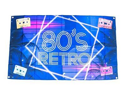 1980s themed flag